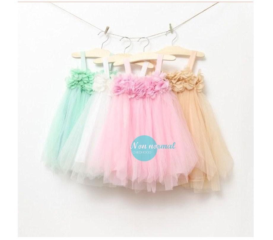 Girls dress summer 2014 Korean dress chiffon (2)