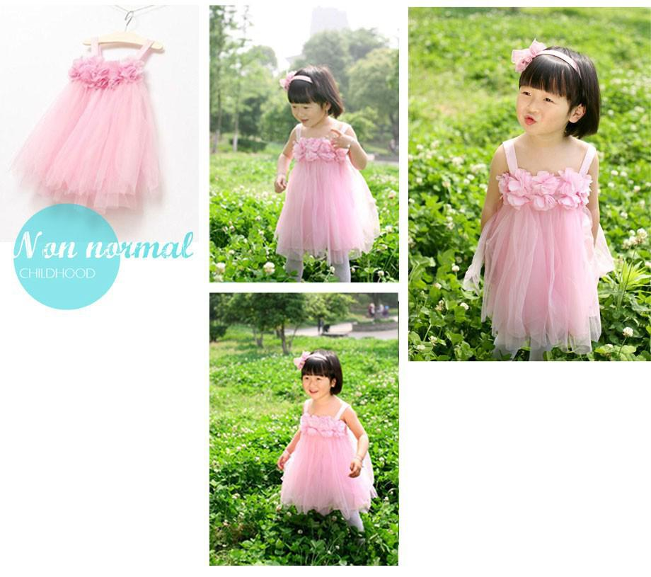 Girls dress summer 2014 Korean dress chiffon (14)